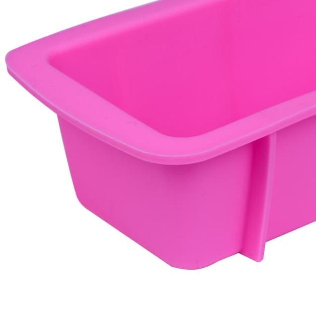 Pink Silicone Non-Stick Loaf Baking Pan