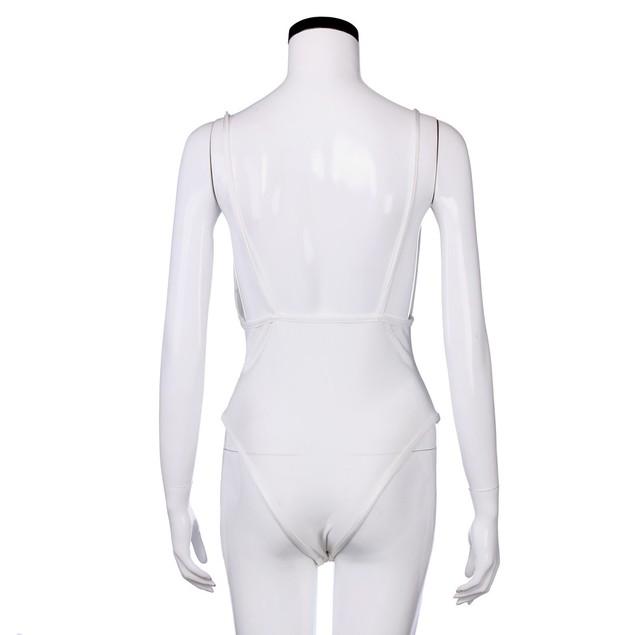 Women Swimsuit Push-Up Padded Bra Deep V-Neck Backless Swimwear Jumpsuit