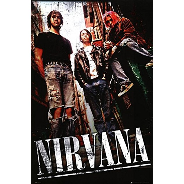 Nirvana Alley Poster 36 x 24 Rock Music Kurt Cobain Dave Grohl
