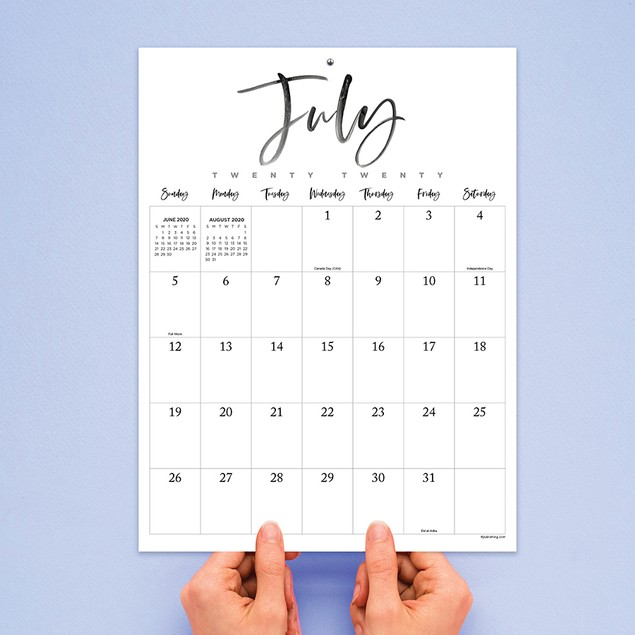 July 2020 - June 2021 Mini Art Poster Monthly Wall Calendar