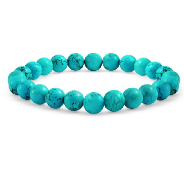 Genuine Turquoise Adjustable Ball Bead Bracelet