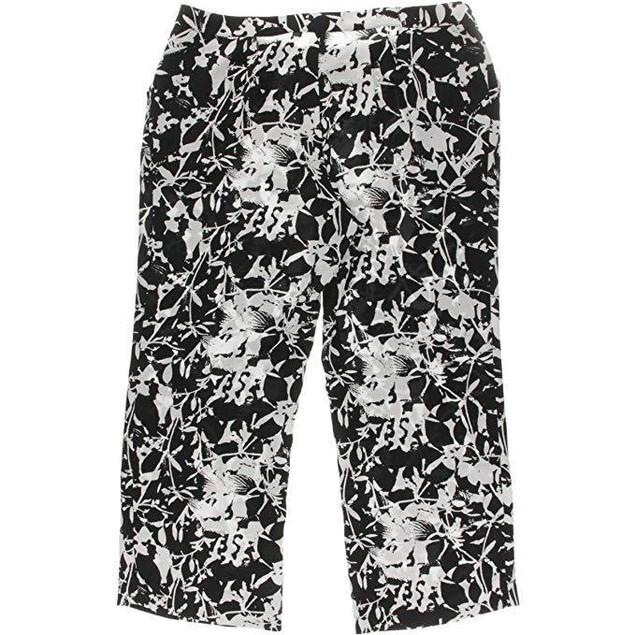 MYNT 1792 Women's Plus Size Printed Wide Leg Pants Flower 12W X 33