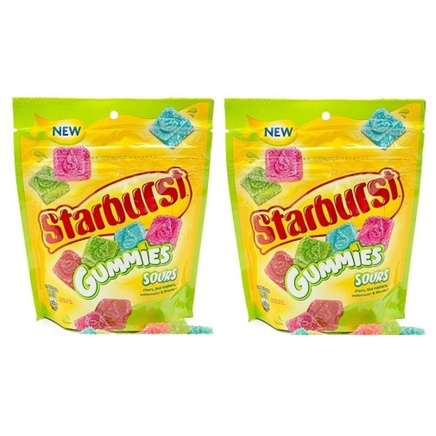 Starburst Sour Fruit Flavor Gummies 2 Bag Pack