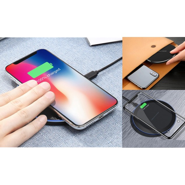 10W Fast Wireless Charging Pad For Qi-Enabled Devices