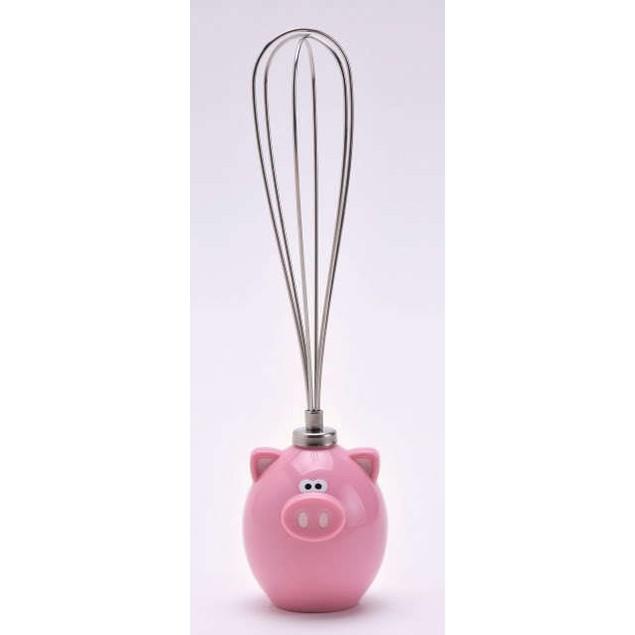 Piggy Wiggy Metal Egg Whisk - Joie MSC Oink Pig Mini Little Whiskie