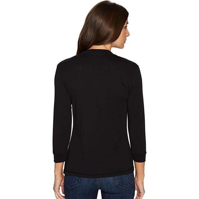 Mod-o-doc Women's Mid Sleeve Cardigan Black Small