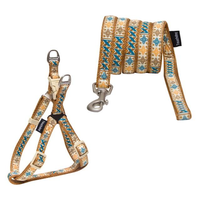 Touchdog 'Caliber' Designer Pet Dog Leash And Harness Combination