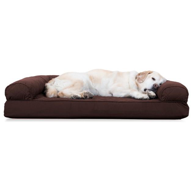 FurHaven Quilted Cooling Gel Sofa Pet Bed