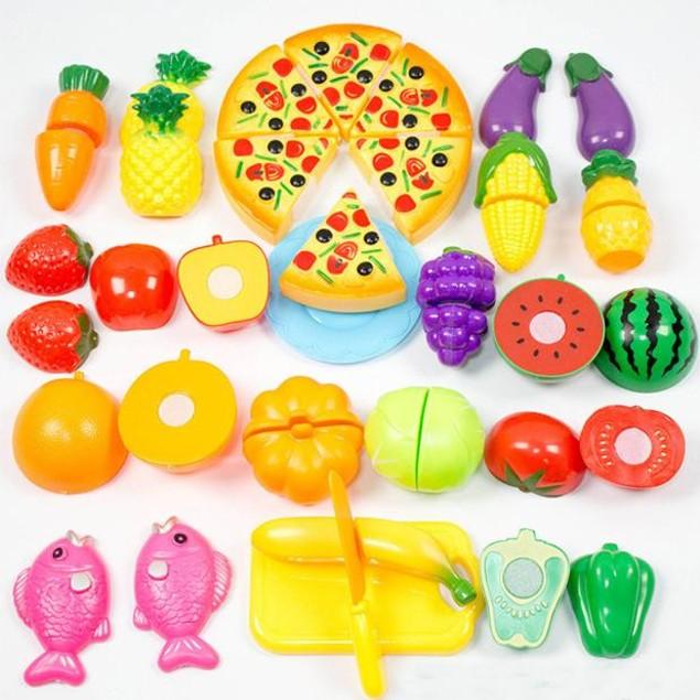 24-Piece Kids Food in the Kitchen Toy Set