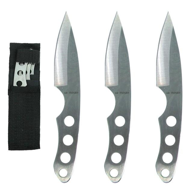 Whetstone Silver Trio Ninja Throwing Knife Set