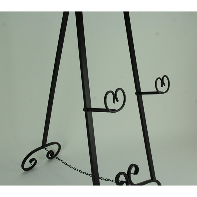 Large Wrought Iron Art Stand Display Easel Metal Easels