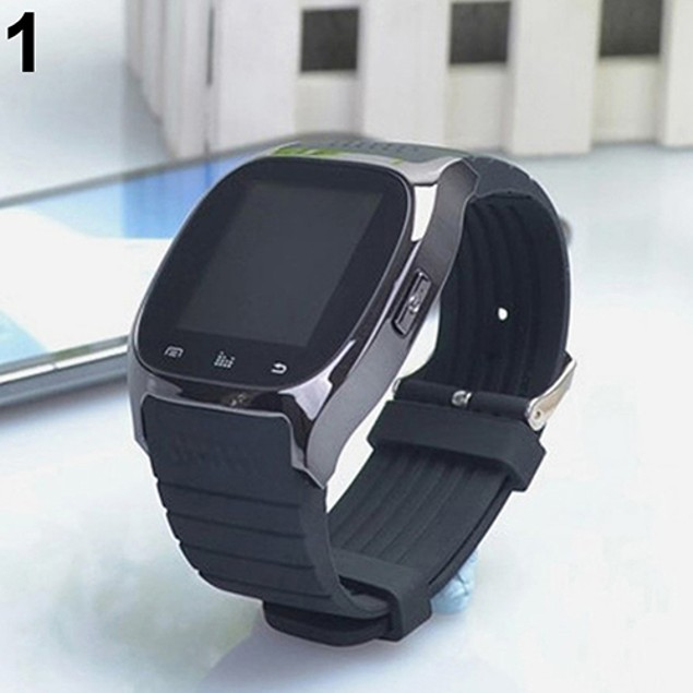 Pedometer Thermometer Music Player Dial Wrist Watch for Phone