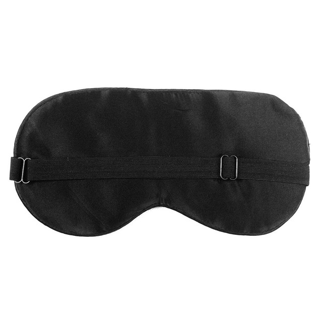 1PC New Pure Silk Sleep Eye Mask Padded Shade Cover Travel Relax Aid