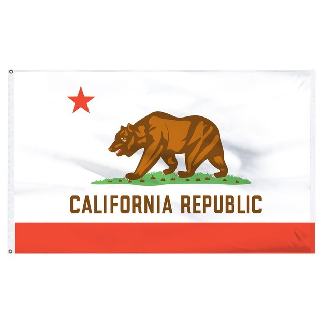 California 3'x5' Flag USA United States Of America Territory State Nylon