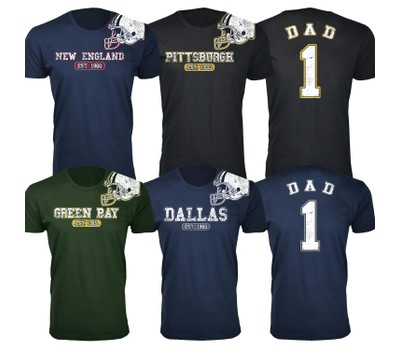 Men's Dad #1 Awesome Football Helmet T-Shirts Was: $44.99 Now: $14.99.