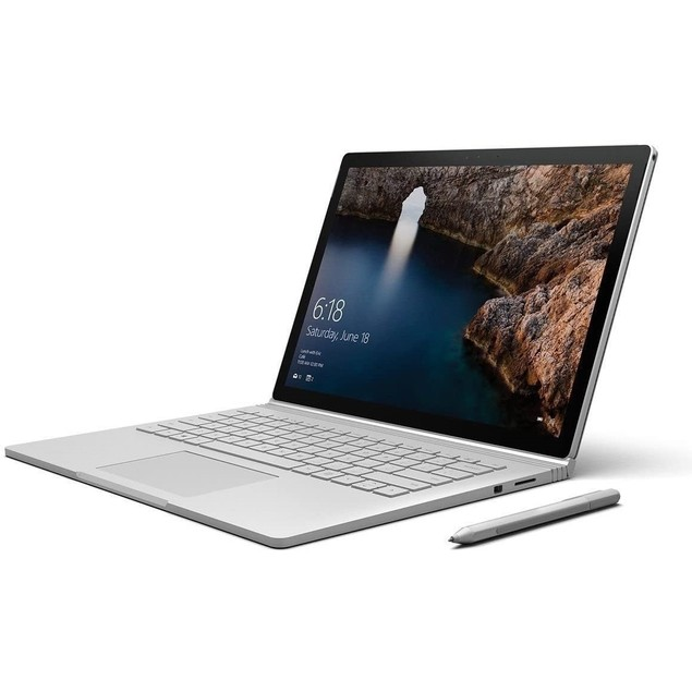 """Microsoft Surface Book 256GB 13.5"""",Silver(Certified Refurbished)"""