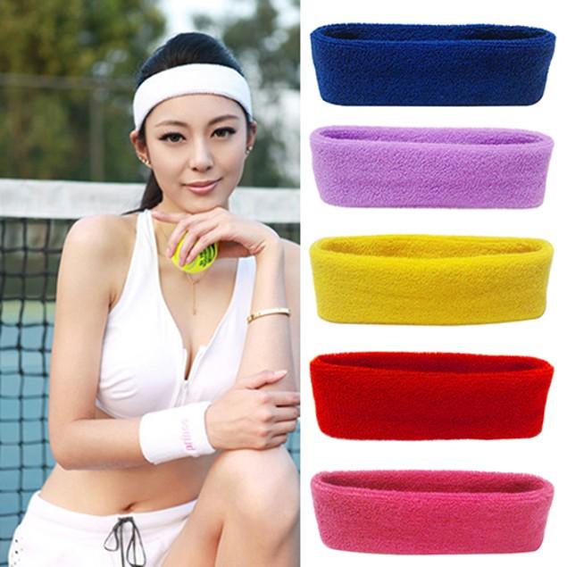 Women Men Sport Sweat Sweatband Headband