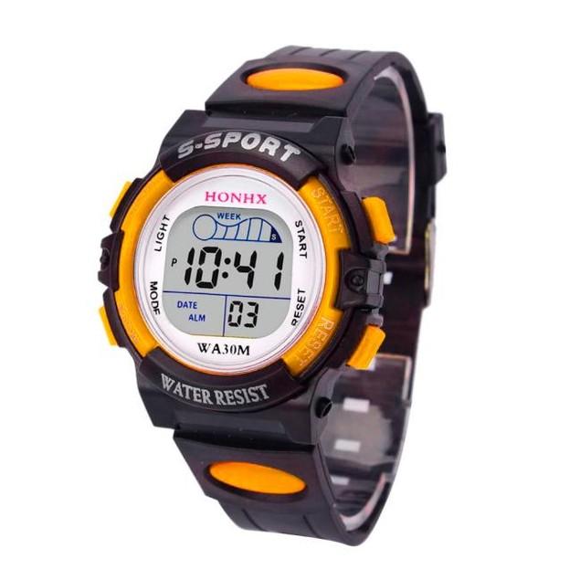 Children Boys Digital LED Sports Watch Kids Alarm Date Watch