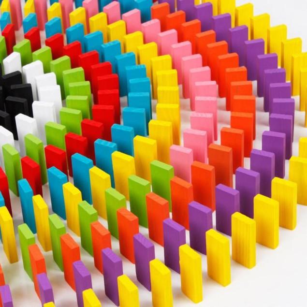 120-Piece Randbow Wooden Domino Set