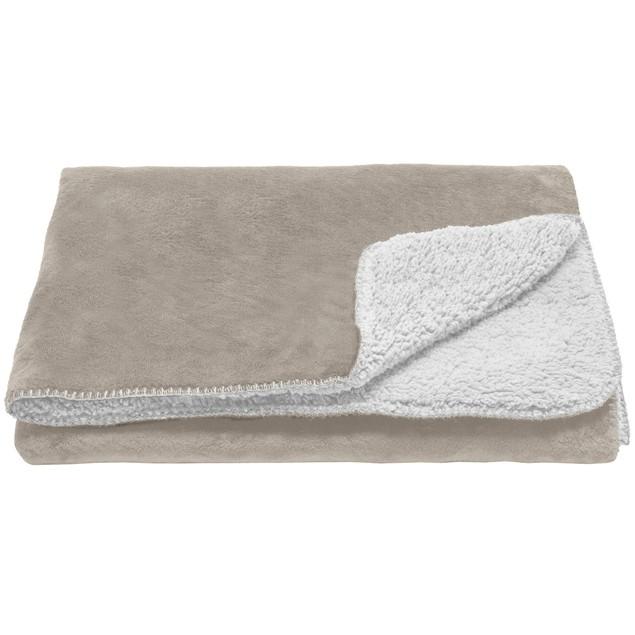 FurHaven Snuggly & Warm Faux Lambswool & Terry Waterproof Pet Throw Blanket