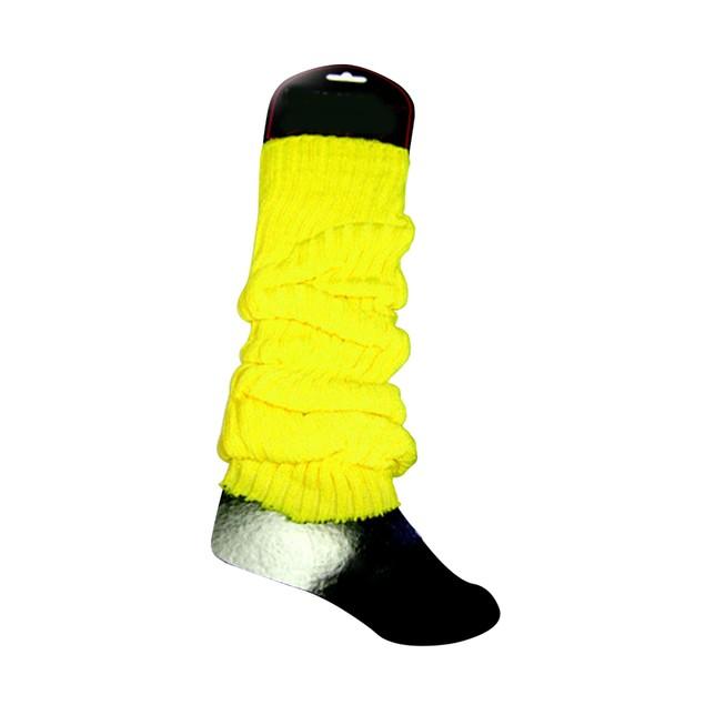 Neon Yellow Leg Warmers (Pair) Rave Club 80's 1980's Dancer Lauper Madonna