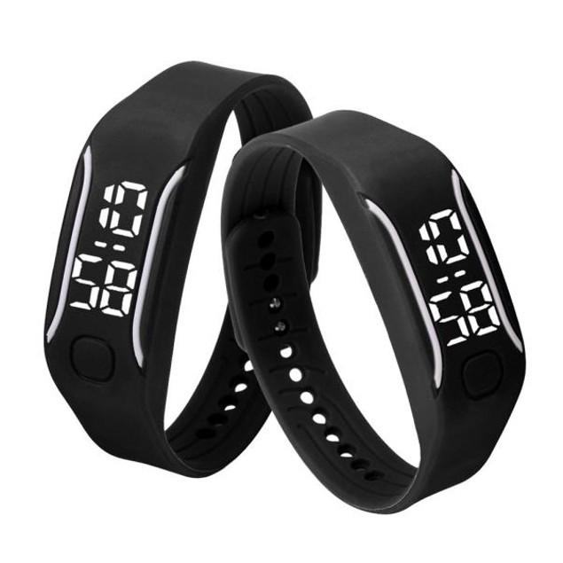 Fashion LED Sports Running Watch Date Rubber Bracelet Digital Wrist Watch