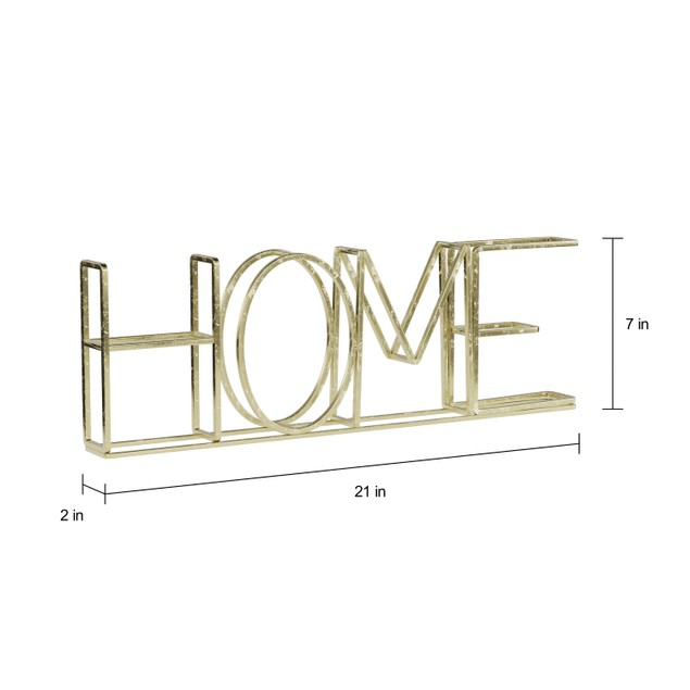 """HOME"" Metal Cutout Free-Standing Table Top Sign"