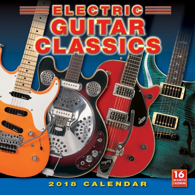 Electric Guitar Wall Calendar, Guitars by Calendars