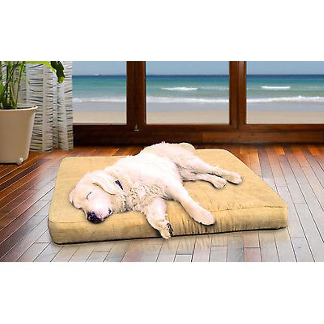 FurHaven Terry & Suede Deluxe Cooling Gel Pet Bed
