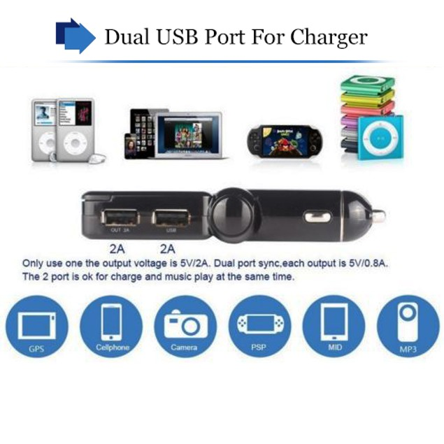LCD BluetooCar Kit MP3 FM Transmitter USB Charger Handsfree