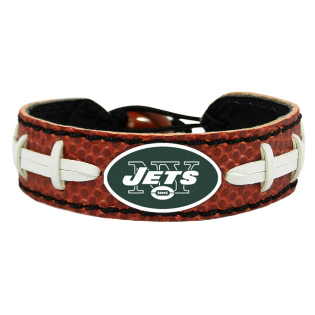 New York Jets Classic Football Bracelet NYJ NFL Leather Lace Laces