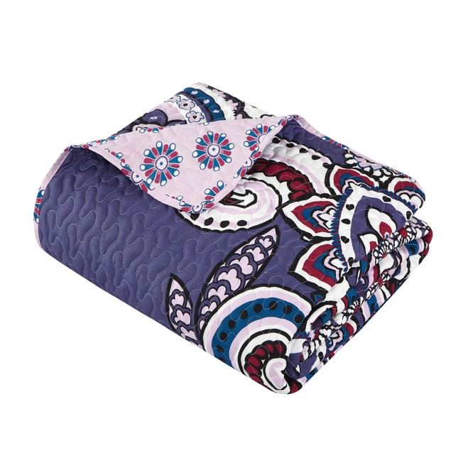 Chic Home 4 Pc. Jonah Large Scale Paisley Print REVERSIBLE Quilt Cover Set
