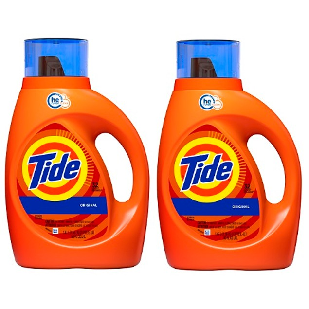 Tide Original HE Liquid Laundry Detergent 50 oz 2 Pack