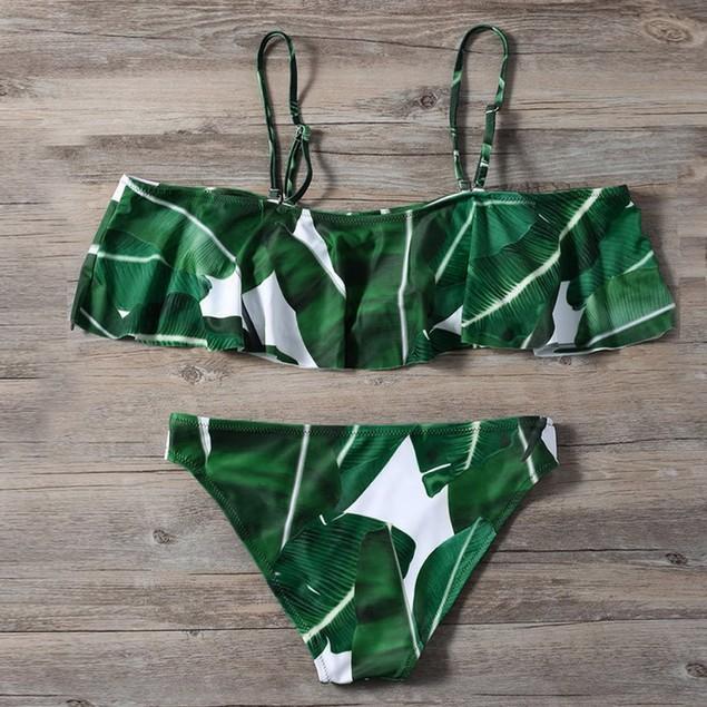 Summer Bandage Bikini Set Push-up Padded Bra Swimsuit Bathing Suit Swimwear