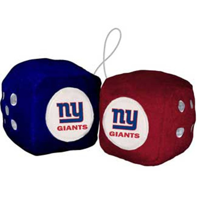 New York Giants Fuzzy Dice NFL Football Team Logo Plush Car Truck Auto