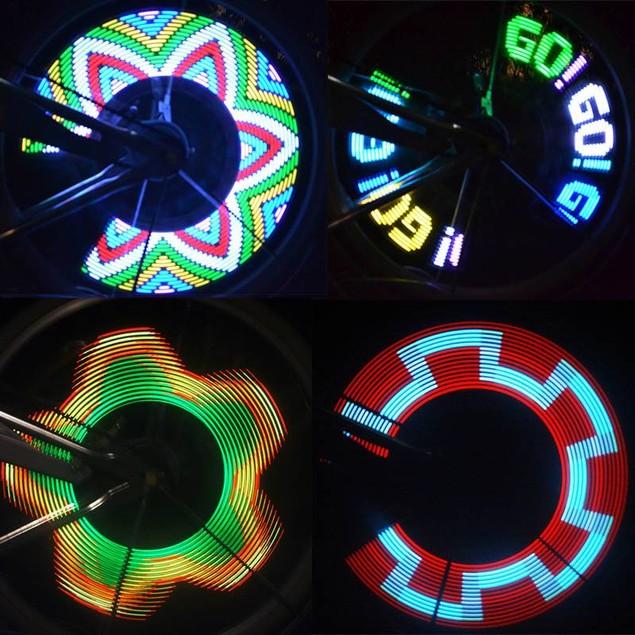 14 LED Motorcycle Cycling Bicycle Bike Wheel Signal Tire Spoke Light