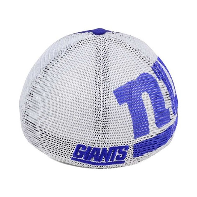 New York Giants NFL 47 Brand Mesh Closer Stretch Fitted Hat