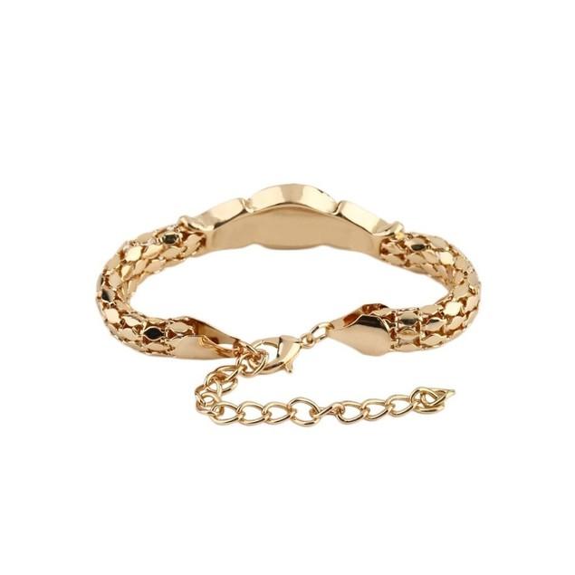 Novadab Estate Lion Emblem Art Deco Statement Bracelet