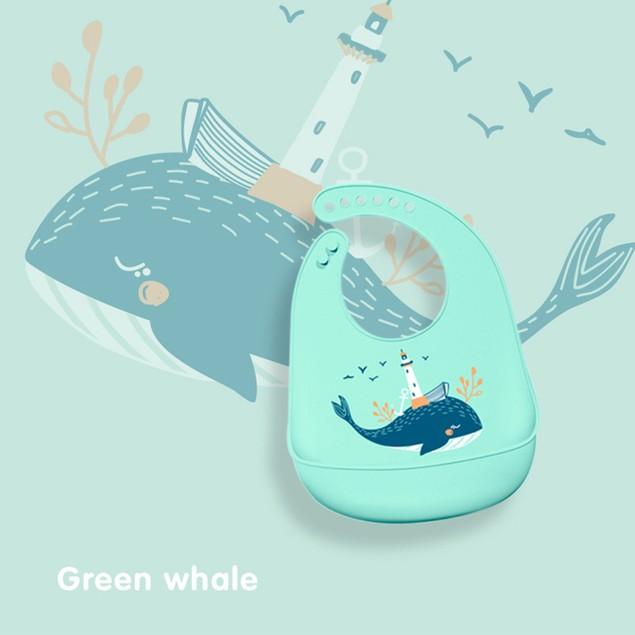 Silicone Baby Eating Bib Stereo Waterproof Rice Pocket