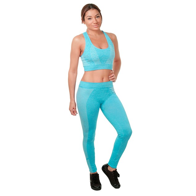2-Piece Women's Athletic Workout Yoga Legging & Sports Bra Set