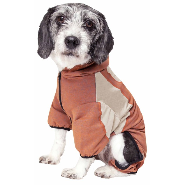 Pet Life Active 'Fur-Breeze' Performance Two-Toned Full Bodied Hoodie