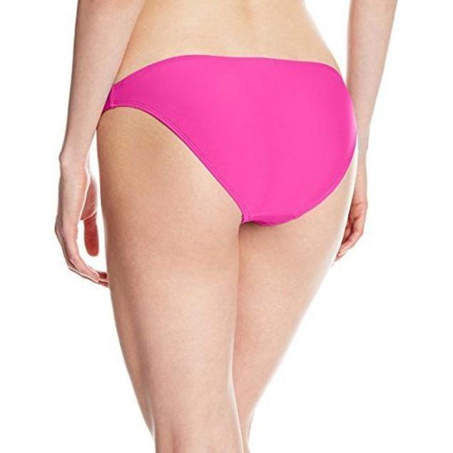 Body Glove Women's Smoothies Basic Bikini Bottom, Flamingo Pink, SZ: L