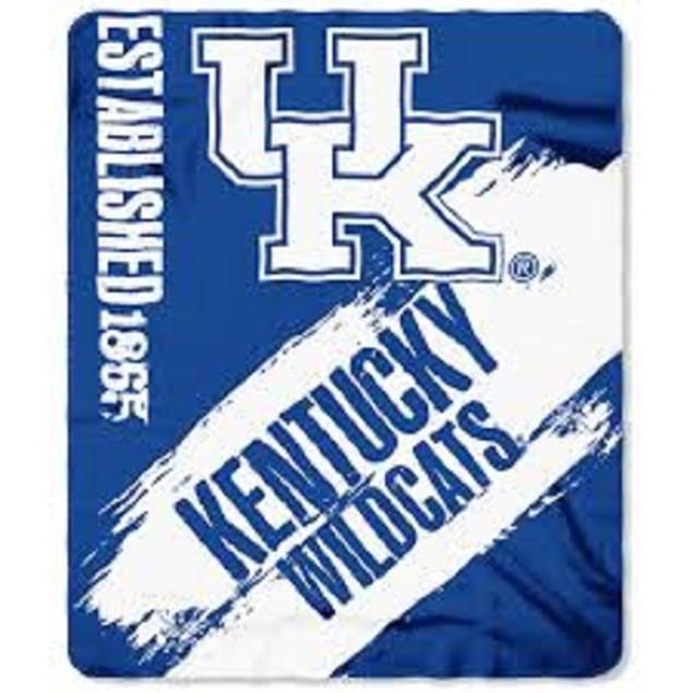 Kentucky Wildcats NCAA Northwest Fleece Throw