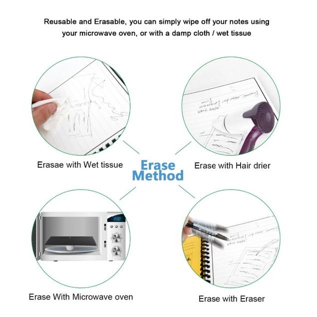 A4 Size Smart Reusable/Erasable Notebook w/ 1 Pen