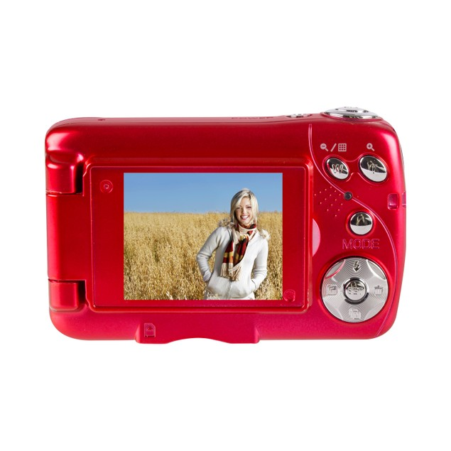 Vivitar VXX14 Red Selfie Cam with Flip-Out Screen