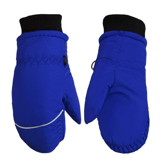 Children Toddlers Fleece Lined Ski Winter Waterproof Mittens Gloves
