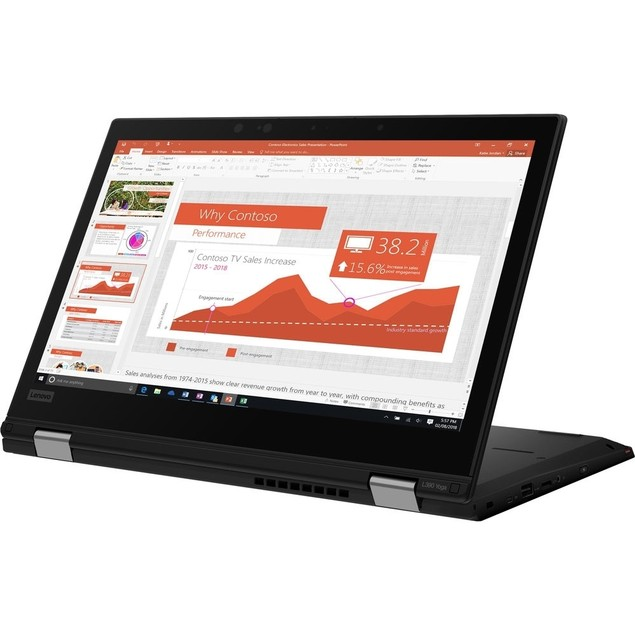 "Lenovo ThinkPad L390 Yoga 13.3"" 256GB, Black (Certified Refurbished)"