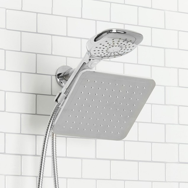 Dual-head Shower Massager with Rainfall