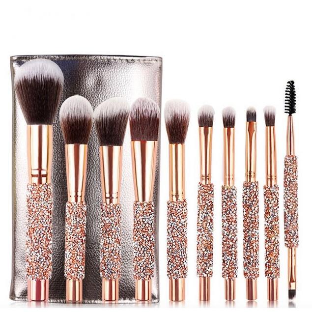New Style 10 Diamond Set Makeup Brush