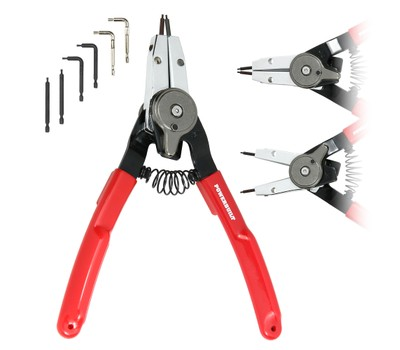 Powerbuilt Combo Switch INT/EXT Snap Ring Pliers Was: $29.95 Now: $11.99.